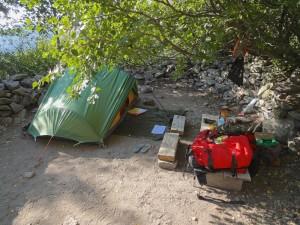 GR20 - Tente et matériel