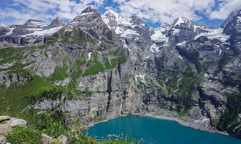 Randonnée sur les hauteurs d'Oeschinensee