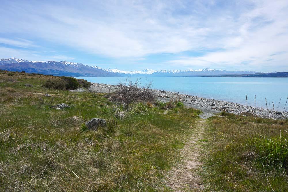 Le lac Pukaki est le plus grand lac alpins de l'Ile du Sud de la Nouvelle-Zélande.