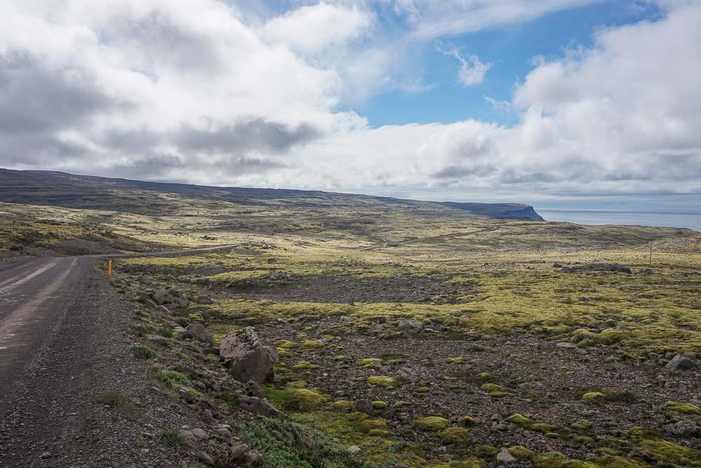La route pour se rendre à Latrabjarg