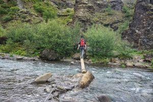 Pour se rendre à Glymur, il y a deux rivières à traverser.