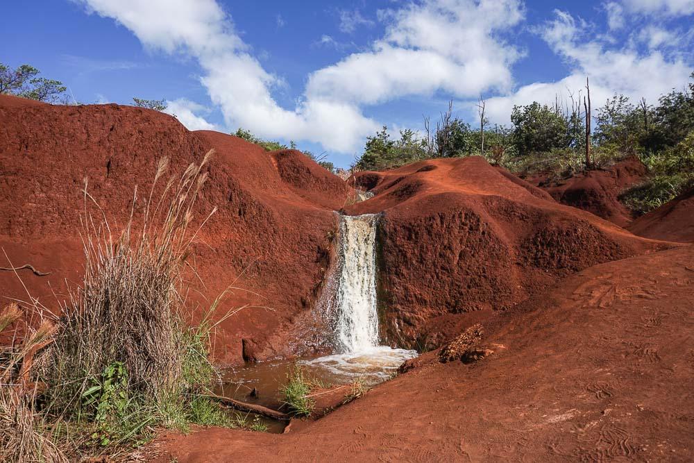 Kauai - Road trip d'une semaine - Red Dirt Falls