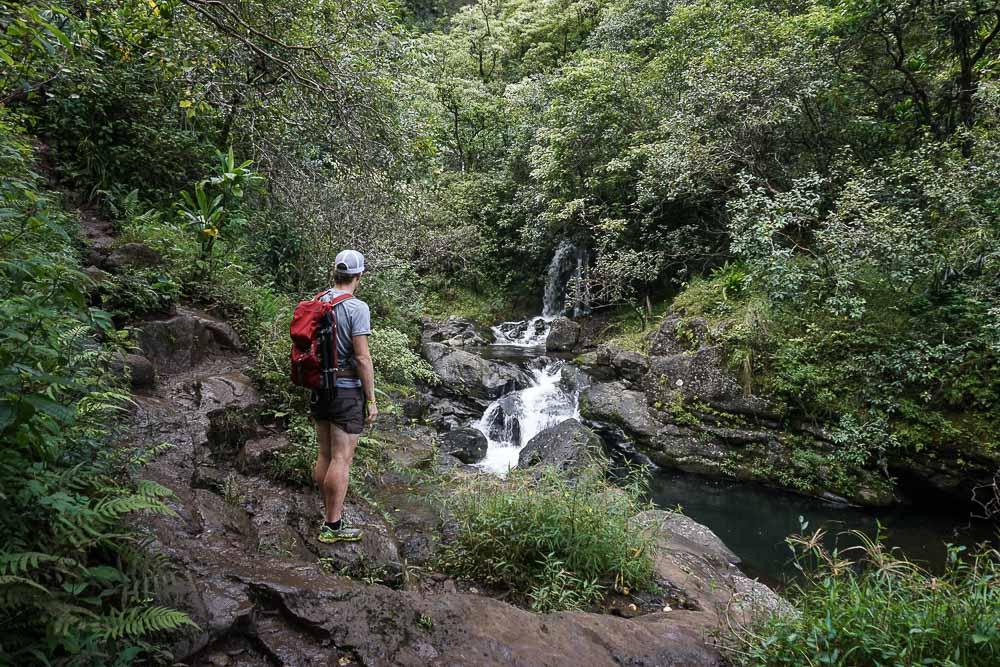 Kauai - Kalalau Trail jusqu'aux Hanakapi'ai Falls